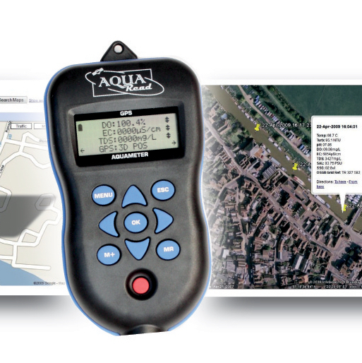 GPS Aquameter: Handheld device with built in GPS data tagging
