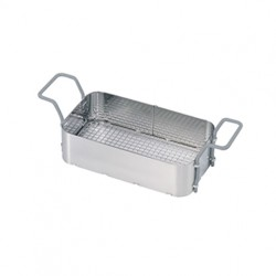 Stainless-steel basket with plastic-coated handles for Elmasonic 100