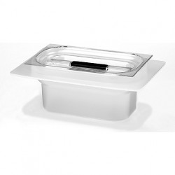 Acid-resistant plastic tub with cover for Elmasonic 100 / 120